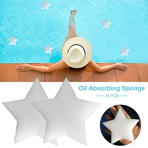 10 Stück Ölabsorbierender Schwamm Für Pool Star Spa Schaum Schwamm Schwamm Für Schwimmbäder Zum Schwimmbad-Whirlpools Spa-Filter, Wartungskit Und Zubehör Verwenden