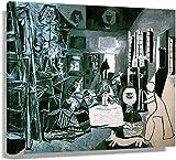 JRLDMD Laminas para Cuadros Pintura Abstracta de Pablo Picasso póster Impresiones artísticas baño Moderno Cuadro Decorativo para el hogar Lienzo Arte de Pared arte50x70cm x1 Sin Marco