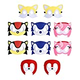 10pcs Hedgehog Birthday Party Masks for Kids Party Favors Party Supplies