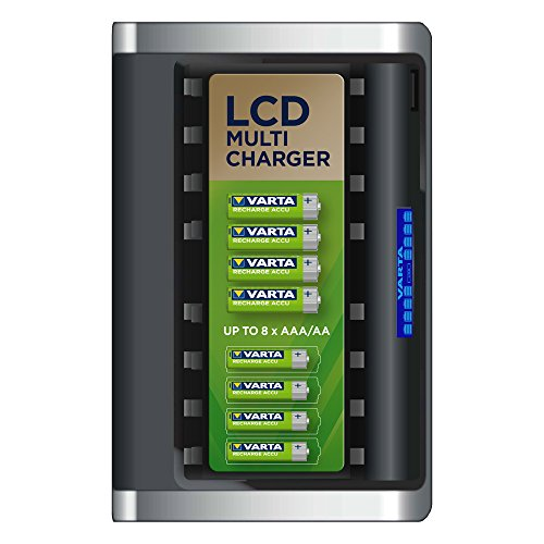 VARTA LCD Multi Ladegerät für 8 AA/AAA Akku (unbestückt)