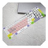 Funda protectora de silicona para teclado Acer Predator Helios 300 2019 / Helios 500 2019 / Helios 700 2019 15.6 17.3 pulgadas rosado