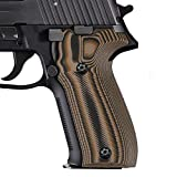 Cool Hand Grips Compatible with Sig Sauer P226, Free Screws Included, Traditional Saw Cut, Coyote Color G10, 226-T-24