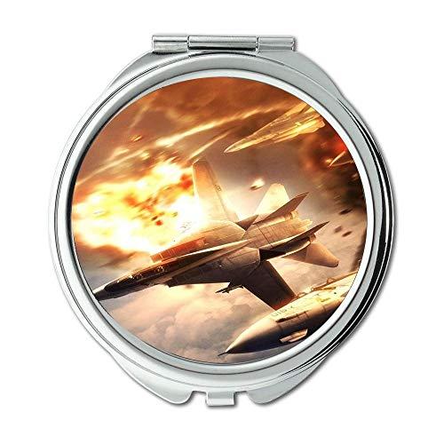 Yanteng Kampfflugzeuge, Spiegel, Compact Mirror, Dragonball Fighter z, Taschenspiegel, tragbarer Spiegel