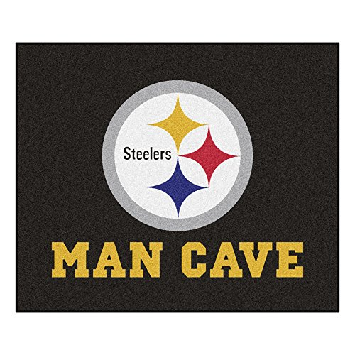 FANMATS 14359 NFL Pittsburgh Steelers Nylon Universal Man Cave Tailgater Rug