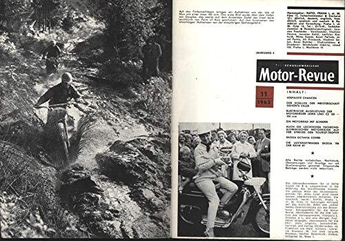Motor Revue, tschechoslowakische Zeitschrift;Ein Motorrad auf Schiern, Mit Bauanleitung JAWA 250ccm,Leichtesten tschechoslowakischen Motorräder auf der Strecke der Tourist-Trophy