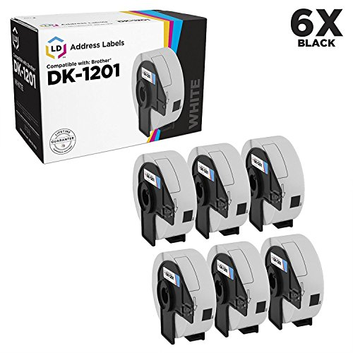 LD Compatible Address Label Replacement for Brother DK-1201 1.1 in x 3.5 in (400 Labels, 6-Pack)