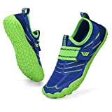 CIOR Boys & Girls Water Shoes Quick Drying Sports Aqua Athletic Sneakers Lightweight Sport Shoes(Toddler/Little Kid/Big Kid) U120WZ2001-Green.blue-34