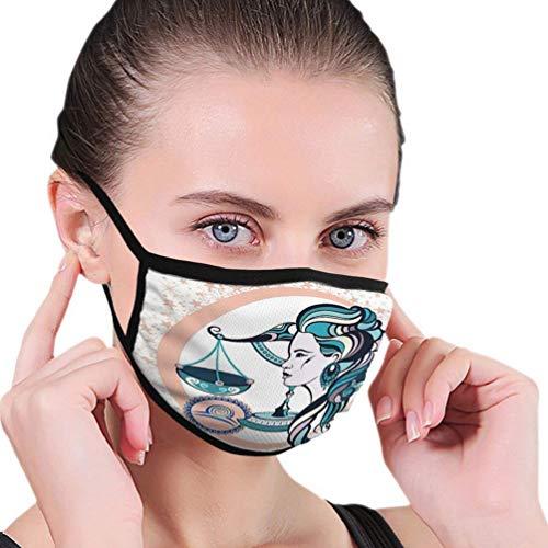 Herbruikbare maskers mondmasker decoratieve dierenriem teken Weegschaal Cirkel gestileerd als vrouw