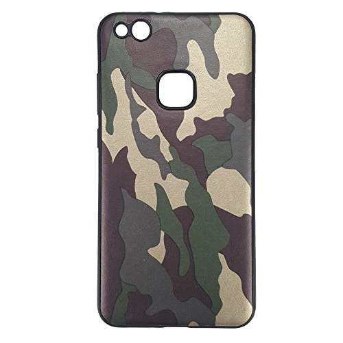 bagmaxx Huawei P10 Lite Handy Tasche TPU Case Flexi Camouflage Schutz Hülle Cover Tarn Muster