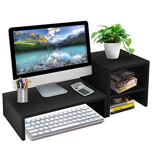 sumgott Soporte de Monitor de computadora, Soporte de Pantalla de Escritorio para computadora portátil, Elevador de Monitor para el hogar, la Oficina, la Escuela