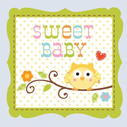 Creatief Converteren 16 Tellen Papier Drank Servetten, Happi Boom Zoete Baby Jongen
