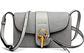New Trend Casual Fashion Bills Shoulder Slung Small Leather Handbag. jszzz (Color : Gray)