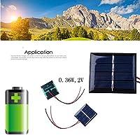 ソーラーパネル ホームアウトドア携帯電話の充電器2V 50ミリアンペアのためのポータブルソーラーパネルミニ太陽光発電パネルモジュール AiHua Huang (Color : 2V 0.36W, Size : ブラック)