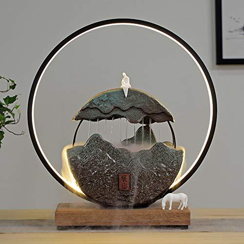 Fontaine D'intérieur Décoration avec Anneau De Lumière LED - Zen...