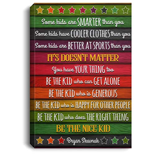 TeeWish Some Kids are Smarter Than You Some Kids Have Cooler Gallery Wrapped Framed Canvas Prints - Unframed Poster, 24' x 36', 0.75'' Framed Canvas/White