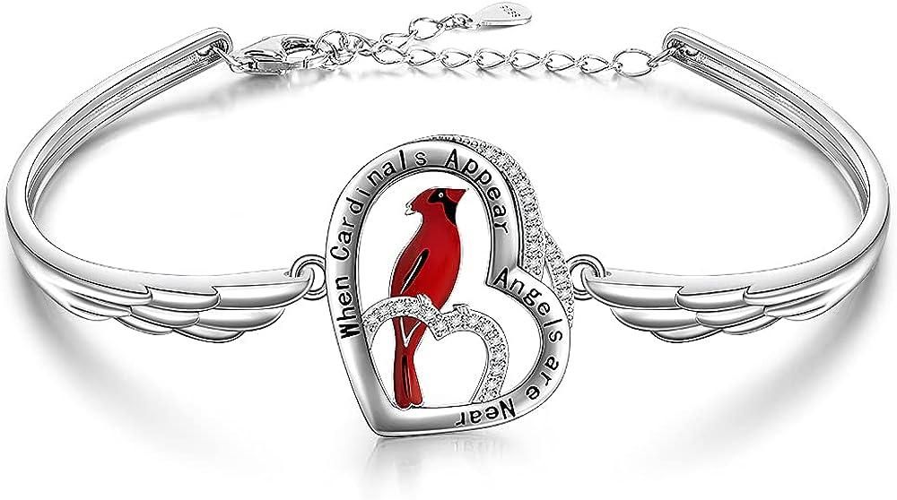 Red Cardinal Bangle Bracelets for Women When Cardinals Appear Yo