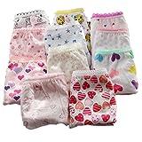 Lot de 6 culottes de Adiasen - Sous-vêtements pour petite fille - En coton - Motif et couleur aléatoires -  - 7 ans