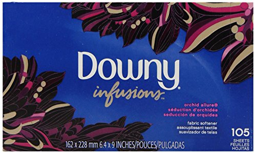 Downy Ultra Infusions Fabric Softener Sheets, Lavender Serenity Scent, 70 Count
