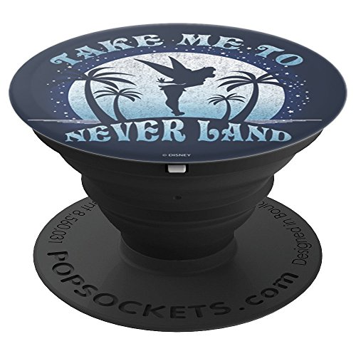 Disney Peter Pan Tinkerbell Silouhette Take Me To Never Land PopSockets Grip and Stand for Phones and Tablets