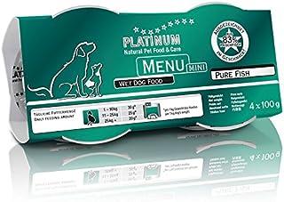 プラチナム ナチュラル ドッグフード : ピュアフィッシュ(100g x 12 パック) 無水調理ウェットフード (グレインフリー、グルテンフリー )