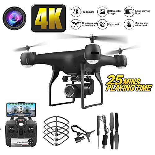 WXGZS Unmanned Aerial, Fahrzeug Mit HD 4K Kamera-Lange Cruising Power Remote Control Helicopter RC Drone Spielzeug