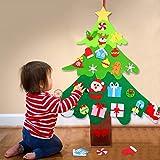 Joyibay Árbol de Navidad de Fieltro Árbol de Navidad de Bricolaje Artificial con Adornos Desmontables para niños Accesorios de decoración navideña