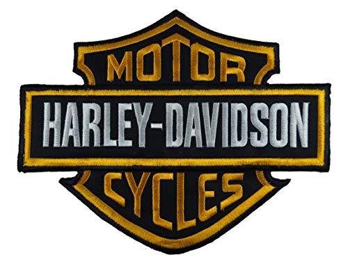 Parche bordado para moto Harley Davidson, 13 x 19 cm, color naranja...
