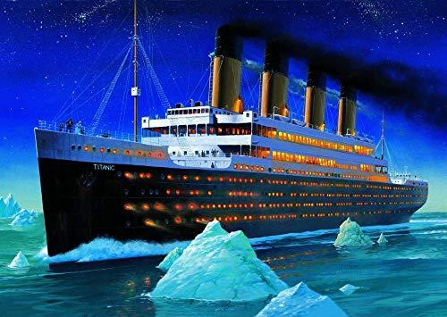 Mutuco Puzzle Holz Puzzle 1000 Teile,Titanic: Eisschiff Poster S6568,Klassisches 3D Puzzle DIY Collectibles Moderne Wohnkultur (75x50cm)