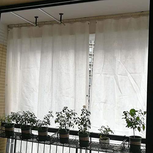 Wit schaduwnet, gordijn doek, zonwering 6-pins schaduwdoek, geïsoleerd en ademend zonnezeil, ideaal voor rolgordijnen/car-cover LDFZ 4 * 5m