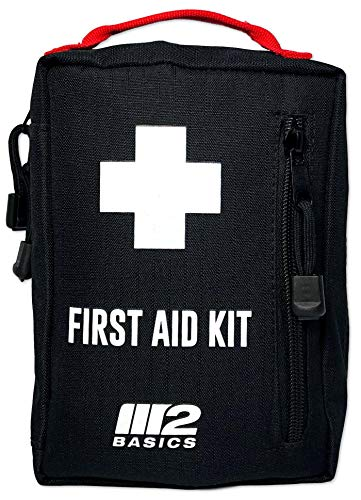 M2 BASICS 200 Piece Emergency Survival First Aid Kit | Compact & Rugged for Home, Car, Outdoors, Camping, Sports, Survival, RV, Boat | Molle Compatible
