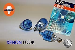 Original OSRAM 1   Set T10 W5W 12V 5W COOL BLUE INTENSE XENON LOOK 4000 KELVIN Soffitte Standlicht Parklicht Scheinwerfer   NEU   OHNE FEHLERMELDUNG   StVO Zugelassen