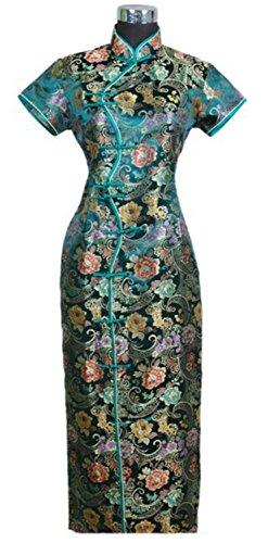 Profitd Mujer Vestidos Las mujeres tradicionales chinas S vestido de seda largo delgado cheongsam Q corro