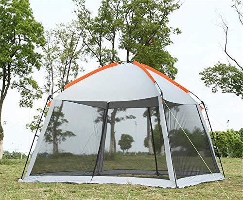 Zhihao Single layer 5-8person family party gardon beach camping tent gazebo sun shelter pergola mosquito net 2colors (Color : Grey)