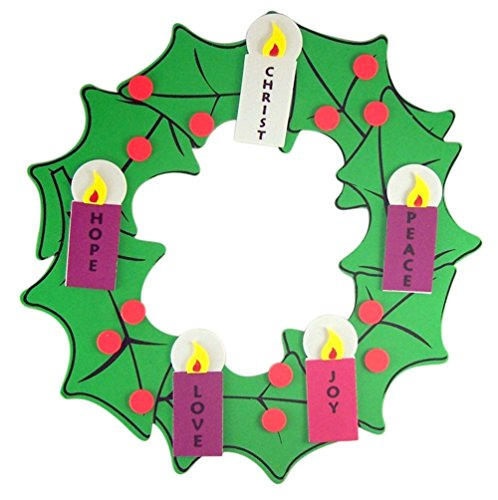Christmas Arts & Crafts Kit for Kids Foam Hanging Advent Wreath (1)