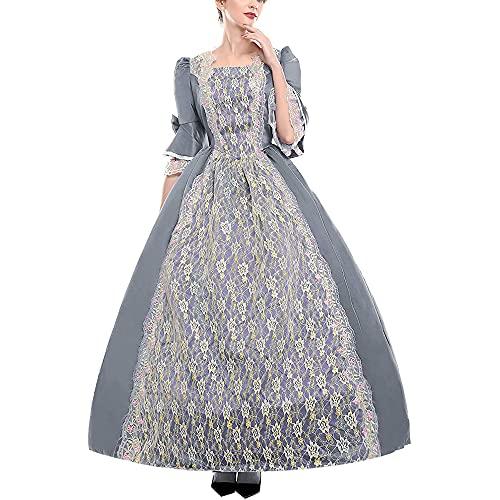 Vestido de Baile rococ para Mujer Vestido Largo de Cosplay Medieval para Mujer Vestido Largo gtico hasta el Suelo Vestido de Mascarada Vestido de Noche para Halloween Fiesta de Carnaval