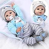HAPA Réaliste Poupée Reborn Silicone Garçon des Yeux Bleus Bouche Magnétique Nouvelle Naissance Reborn Baby Dolls Enfants Jouet 55cm