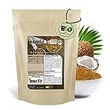nur.fit by Nurafit BIO Kokosblütenzucker 500g – rein natürlicher Zuckerersatz aus Kokosblüte als Süßungsmittel mit leichtem Karamell-Geschmack – Zuckeralternative in zertifizierter Bioqualität