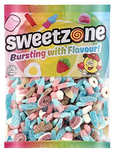 Premium Fruchtgummis saure Gummibärchen Süßigkeiten - 1 Kilogramm - 1000g - 1kg - saurer Mix - HALAL - mit HALAL Rindergelatine (Gummibären) (saurer Mix)