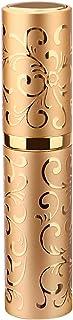 Gotofine アトマイザー グラスアトマイザー 香水ボトル 香水瓶 詰め替え容器 ストローとジョーゴ付き 携帯便利(ゴールド)
