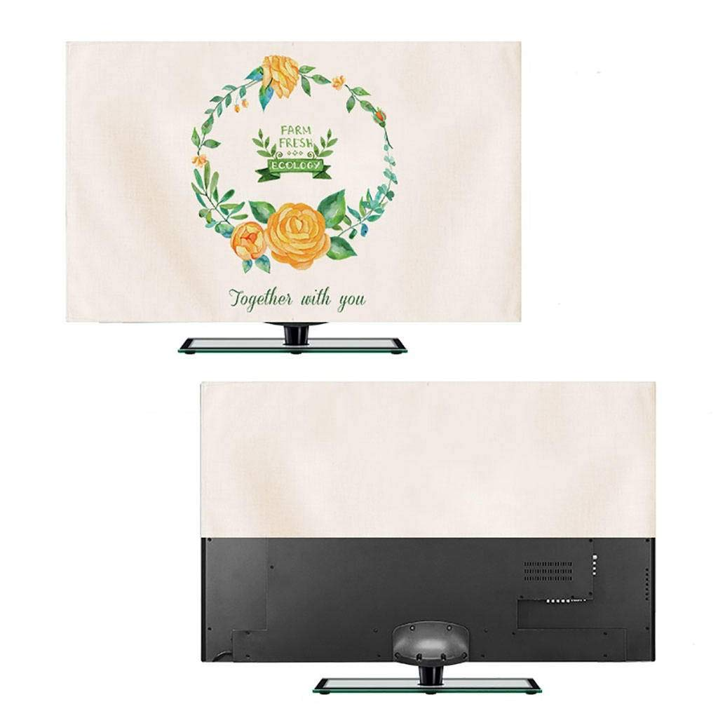 HBLZG Funda para Monitor, Ropa de algodón nórdica Art TV Cubierta Antipolvo Cubierta Colgante TV Cubierta Protectora Tela Antipolvo LCD 24-60 pulgadas-24Pulgada-B: Amazon.es: Hogar