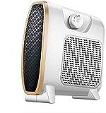 Calentador de ventilador eléctrico portátil vertical plano calentador eléctrico portátil protección contra inclinación y sobrecalentamiento con viento cálido y natural 3 modos para dormitorio de beb