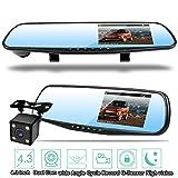 Homelink 1080P Double Caméras de Voiture Avant et Arrière & Enregistreur 170°...