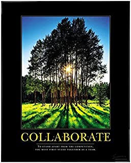 Successories .25 in. Black Aluminum Frame, No Mats-Collaborate Grove Motivational Poster