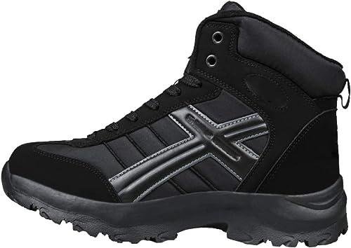 Bottes De Neige Moyen age Chaussures pour Hommes Hiver Chaud Chaud Extérieur Anti-dérapant Imperméable à l'eau De Travail pour Hommes  belle