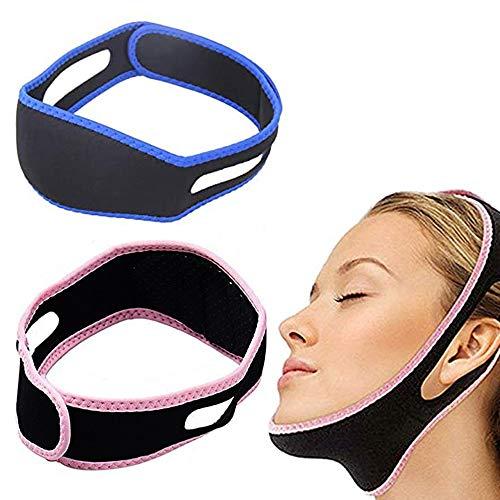 LABOTA Correa adelgazante facial,Cinturón de estiramiento facial,Correa de barbilla de elevación V Line Cinturón antiarrugas para mujeres elimina la flacidez Lifting de la piel Reafirmante