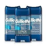 Gillette Antiperspirant Deodorant for Men, Cool Wave Scent, Clear Gel Power Beads , 2.85 oz (pack of 3)