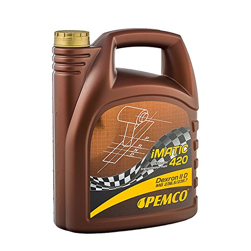 1 x 5 Liter Pemco iMatic 420 ATF IID / Dexron 2 Getriebeöl Servolenkung Hydrauliköl Rot
