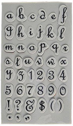 Spellbinders Alfabet Onderste Cling Rubber Stempel, Synthetisch materiaal Meerkleurig, 20,2 x 13 x 0,6 cm