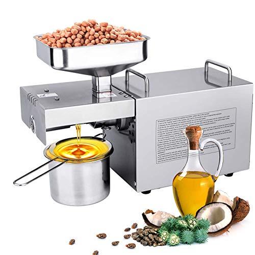 IDABAY 700W Oil Press Machine, Estrattore D'olio Automatico per Uso Domestico, Adatto a produrre, Olio di Girasole, Olio Arachidi, Olio di Oliva, Olio di Cocco, Olio di Sesamo, Olio di Noce 220V