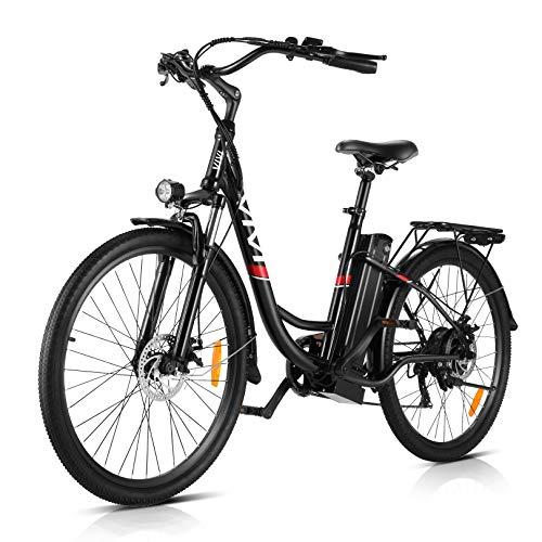 VIVI 350W Elektrofahrrader Pedelec 26 Zoll Ebike Damen Herren City | 7-Gang | 36V 8Ah Akku Hollandrad Tiefer Einstieg Elektrofahrräder Mountainbike (26